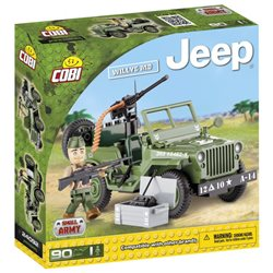 COBI Small Army stavebnice Jeep Willys MB zelený